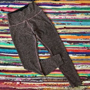 Beyond Yoga ~ Grey & pink leggings